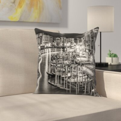 Venice View From Rialto Bridge Throw Pillow Size: 20 x 20