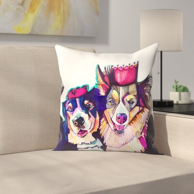 Two Dogs 2 Throw Pillow Size: 18 x 18