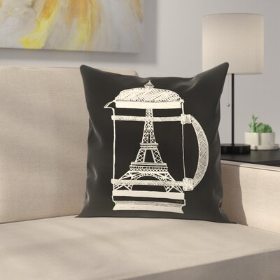 French Press Throw Pillow Size: 14 x 14