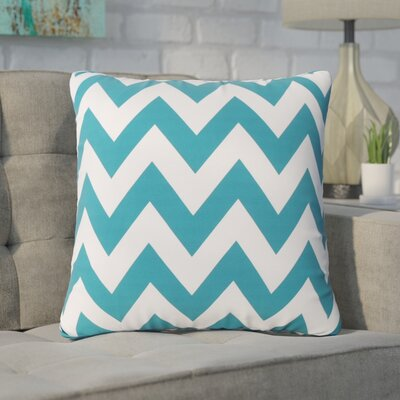 Swigart Square Indoor/Outdoor Throw Pillow Color: Dark Teal/White