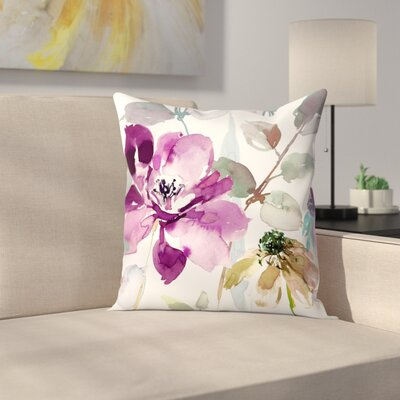 Floral Flurish Throw Pillow Size: 18