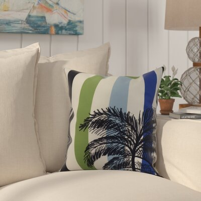 Shetland Print Throw Pillow Color: Green, Size: 18 x 18