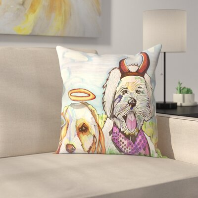 Angelina & Satana Throw Pillow Size: 14 x 14