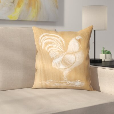 Rustic Rooster Throw Pillow Size: 20 x 20