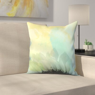 Blue Sunflower Throw Pillow Size: 16 x 16