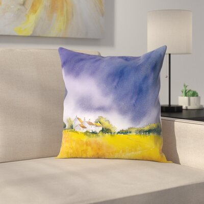 Summer Storm Throw Pillow Size: 16 x 16