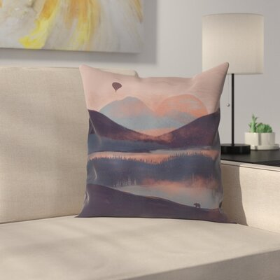 A Drift In The Mounatins Throw Pillow Size: 16 x 16