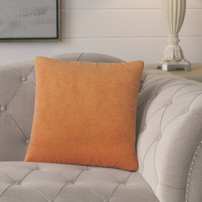 Cariati Solid Throw Pillow Color: Ginger