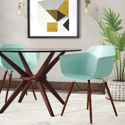 Lorenzo Mid Century Dining Chair Color: Surfin
