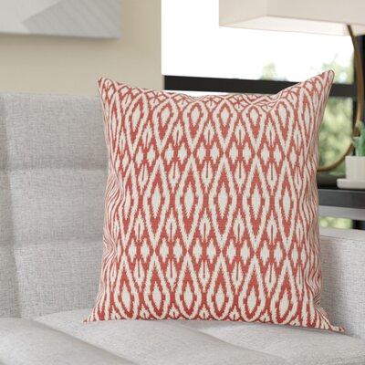 Garner Cotton Throw Pillow Color: Hot Pepper, Size: 20 x 20