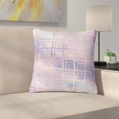 Matt Eklund Tiled Dreamscape Outdoor Throw Pillow Size: 16 H x 16 W x 5 D, Color: Purple