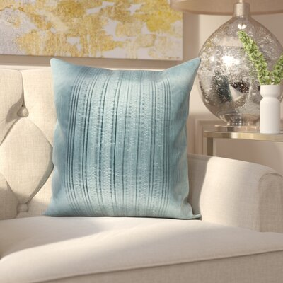 Burlington Elegant Pleated Throw Pillow Color: Teal, Size: 20 H x 20 W x 5 D,  Type/Fill: Pillow With Polyester Insert