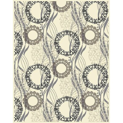 Ilbert Wool Cream/Gray Area Rug Rug Size: Rectangle 2 x 3