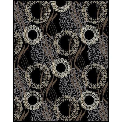 Inglaterra Black Area Rug Rug Size: Rectangle 2 x 3