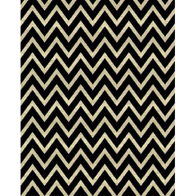 Orkney Black/Cream Area Rug Rug Size: Rectangle 8 x 11