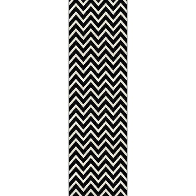 Orkney Black/Cream Area Rug Rug Size: Runner 2 x 8