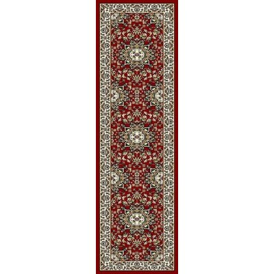 Fales Red/Brown Area Rug Rug Size: Runner 2 x 8