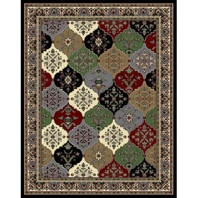 Nordman Black/Beige Area Rug Rug Size: Rectangle 5 x 8