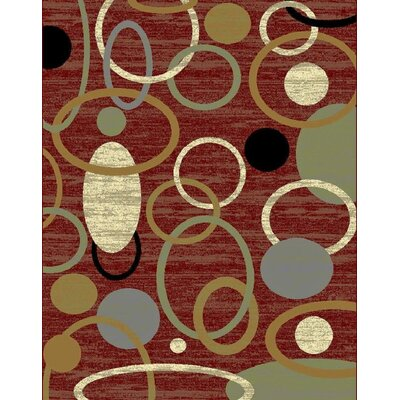 Ilbert Wool Red/Green Area Rug Rug Size: Rectangle 8' x 11'