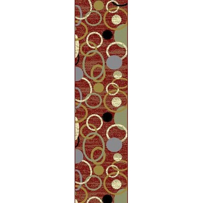Ilbert Wool Red/Green Area Rug Rug Size: Runner 2 x 8