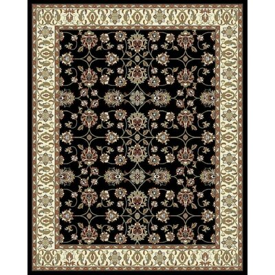 Falgout Black Area Rug Rug Size: Rectangle 2' x 3'