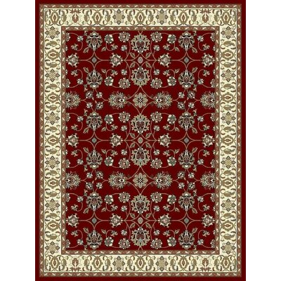 Fales Red Area Rug Rug Size: Rectangle 8 x 11