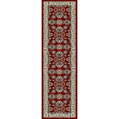 Fales Red Area Rug Rug Size: Runner 2' x 8'