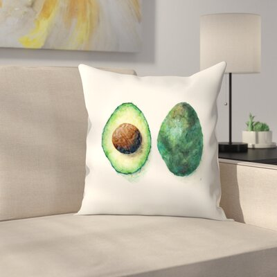Avocado Throw Pillow Size: 16 x 16