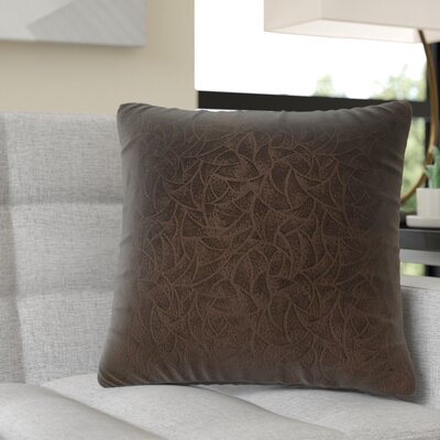 Aymond Square Throw Pillow Color: Dark Brown