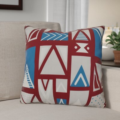 Decorative Geometric Throw Pillow Size: 16 H x 16 W, Color: Cranberry