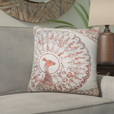 Aahil Animal Print Cotton Throw Pillow Color: Coral