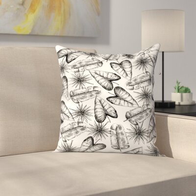 Jetty Printables Palm Leaf Pattern Throw Pillow Size: 16 x 16