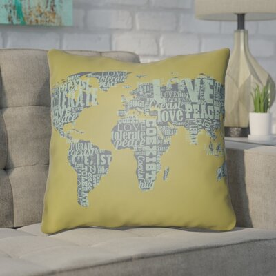 Bainum Square Throw Pillow Size: 18 H x 18 W x 4 D, Color: Green