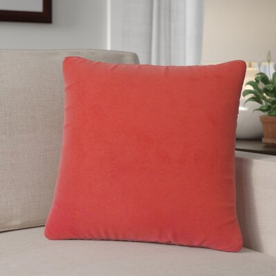 Locindra Solid Down Filled Throw Pillow Size: 22 x 22