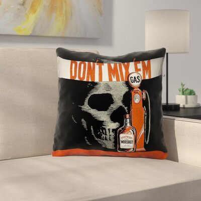 Anti-Drunk Driving Poster Square Throw Pillow Size: 26 x 26