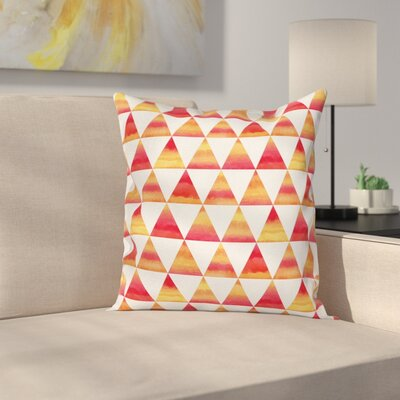 Triangle Geometric Art Cushion Pillow Cover Size: 16 x 16
