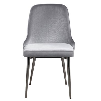 Upholstered Dining Chair Upholstery Color: Gray