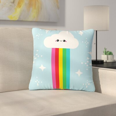 Mr. Rainbow Kids Outdoor Throw Pillow Size: 18 H x 18 W x 5 D