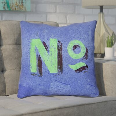 Enciso Graphic Wall Throw Pillow with Zipper Size: 16 x 16, Color: Blue/Green