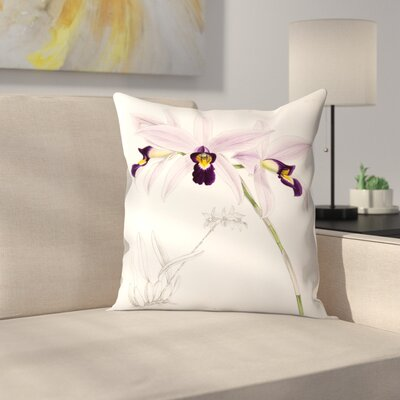 Fitch Orchid Laelia Anceps Throw Pillow Size: 18 x 18