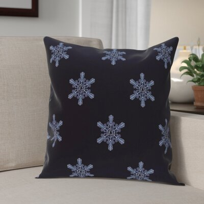 Flurries Decorative Holiday Print Throw Pillow Size: 18