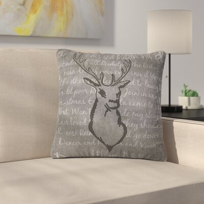 NL Designs Reindeer Outdoor Throw Pillow Size: 18 H x 18 W x 5 D