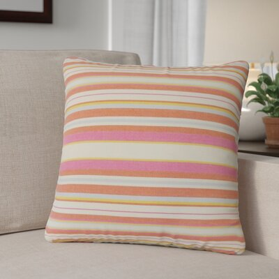 Calona Striped Down Filled 100% Cotton Throw Pillow Size: 24 x 24