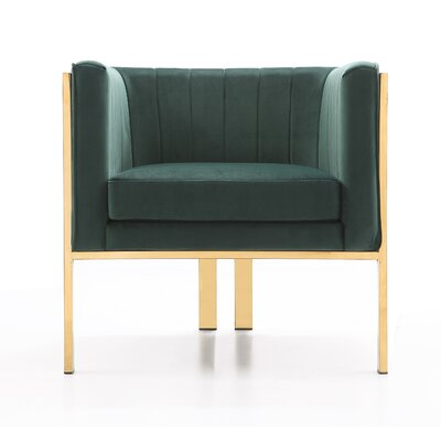 Kulas Armchair Upholstery: Forest Green