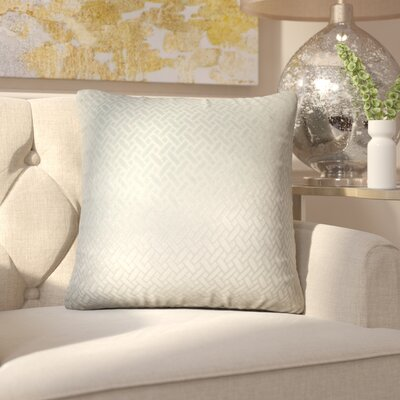 Pawel Solid Down Filled Throw Pillow Size: 22 x 22, Color: Aqua