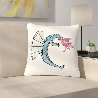 NL Designs Water Dragon Outdoor Throw Pillow Size: 16 H x 16 W x 5 D