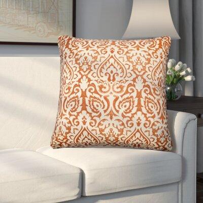 Godines 100% Cotton Throw Pillow Color: Orange