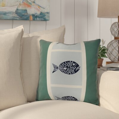Bartow Fish Chips Throw Pillow Size: 16 H x 16 W x 3 D, Color: Green