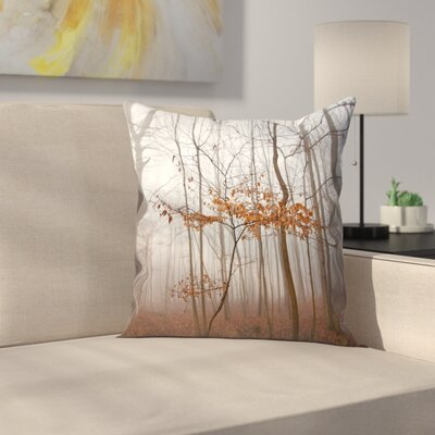 Maja Hrnjak Lonely Tree Throw Pillow Size: 18 x 18