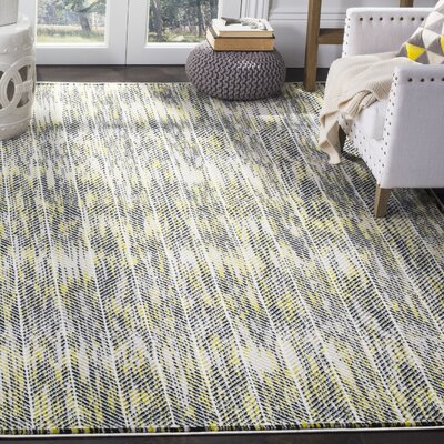 Coggin Gray/Green Area Rug Rug Size: Rectangle 51 x 76
